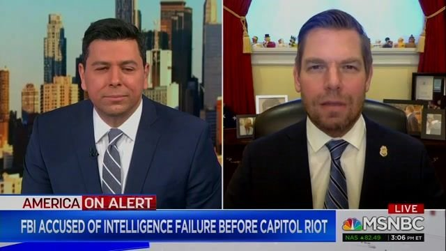 "Rep. Swalwell (D-CA): ""I want it to be clear that the person most responsible for what happened on January 6"" was Trump."