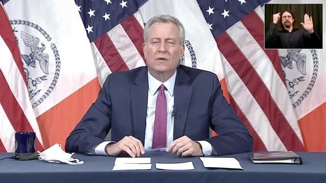 """NYC Mayor de Blasio calls for an """"independent investigation"""" into Gov. Cuomo (D-NY) after sexual harassment allegations."""
