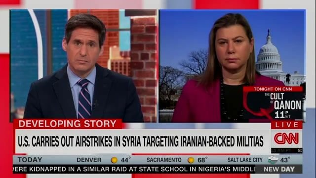 """Rep. Slotkin (D-MI) on airstrike in Syria targeting Iranian-backed militias: """"If you hit at us, we're gonna punch back."""""""
