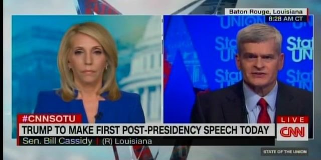 "Sen. Bill Cassidy (R-LA) on CNN's SOTU: ""Over the last four years we lost the House, the Senate and the presidency."""