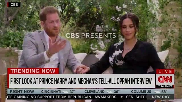 First clips from Harry/Meghan/Oprah CBS intvw emerging: Harry discusses what his mother must have gone through ...