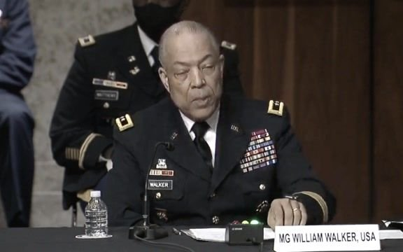 """Maj. Gen. Walker, commanding general of D.C. National Guard: Relayed """"dire"""" request for assistance at Capitol on Jan. 6."""
