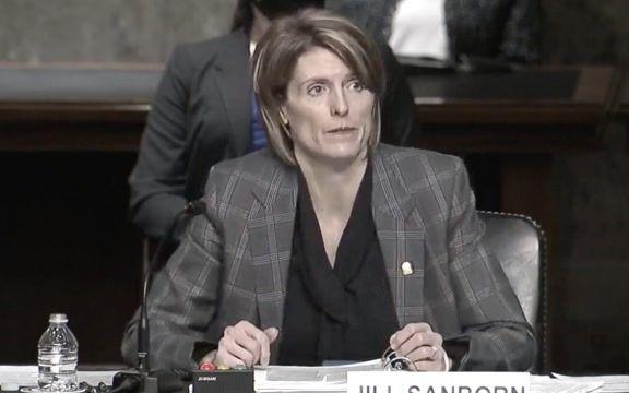 "After Sen. Johnson (R-WI), Sen. Klobuchar (D-MN) asks D.C. attack FBI witness Jill Sanborn if atmosphere was ""festive."""
