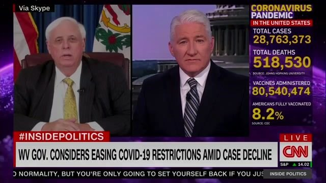 """Gov. Justice (R-WV) on states lifting mask orders: """"I don't know really what the big rush to get rid of the mask is."""""""