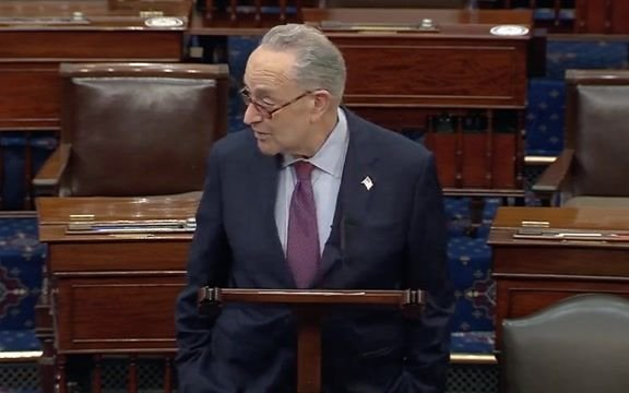 Senate Majority Leader Schumer gives nod to Sen. Johnson (R-WI), who forced 10-hour Senate reading of COVID relief bill.