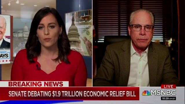MSNBC's Hallie Jackson fact checks Sen. Mike Braun (R-IN) on financial relief within the COVID bill.