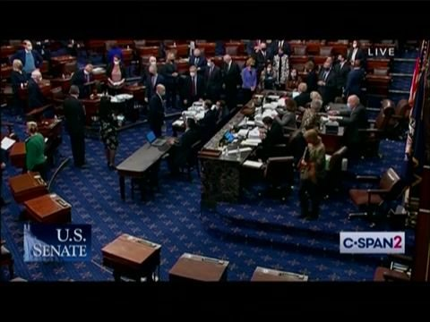 And there it is. After 25+ hours of debate, the Senate passes the American Rescue Plan by a vote of 50-49.
