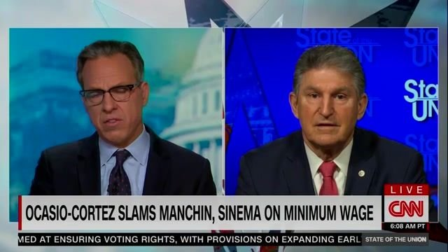 "Sen. Manchin: ""We are going to go and do something ... the $15 minimum wage never fit in this piece of reconciliation."""