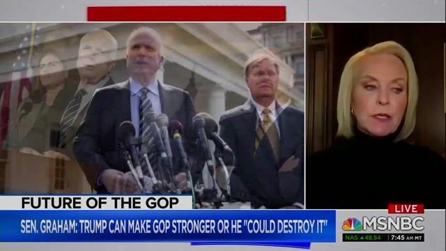 "Cindy McCain says she does not believe the Republican Party will survive by ""appealing to the dark side of humanity."""
