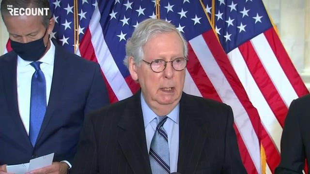 """Sen. Min. Leader McConnell calls H.R.1, a bill to expand voting rights, a """"Democratic plan to take over all elections."""""""
