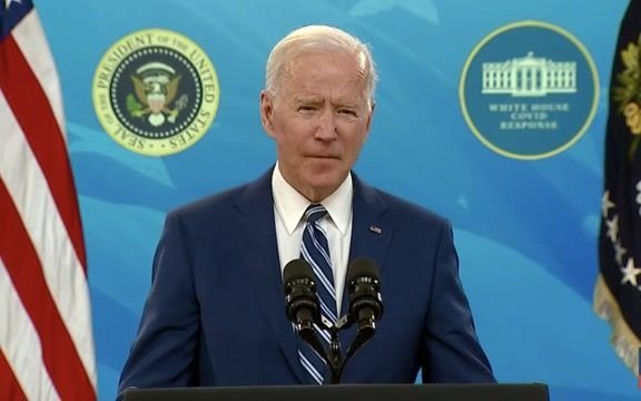 """President Biden: """"I'm reiterating my call for every governor, mayor and local leader to reinstate the mask mandate."""""""