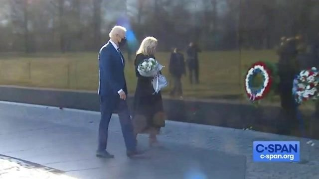 Pres. Biden and First Lady Jill Biden visit the Vietnam Veterans Memorial to honor National Vietnam War Veterans Day.