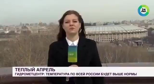 A dog in Russia grabbed the reporter's microphone and ran away during a live broadcast.